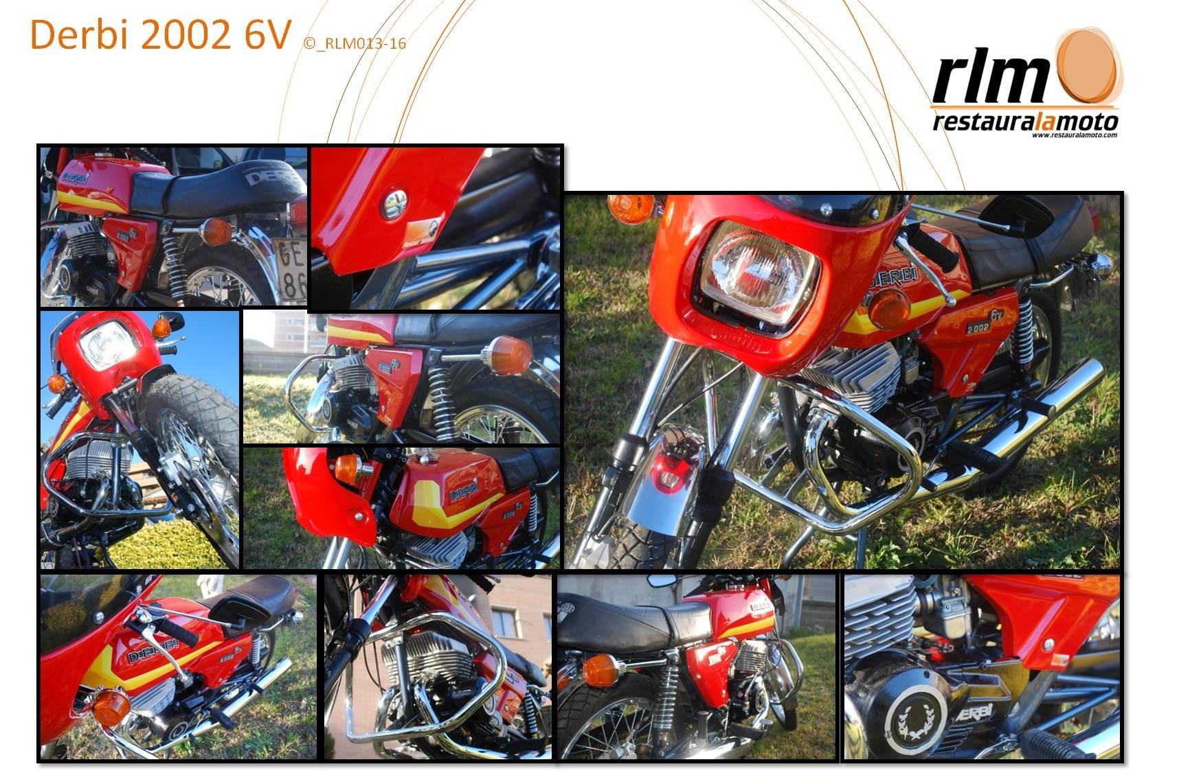 Restaura la moto Derbi 2002