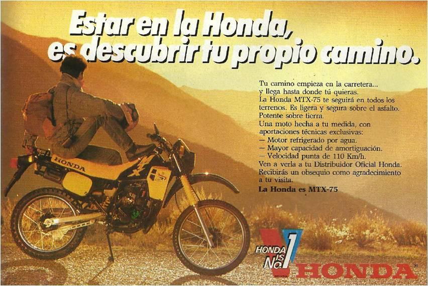 Publicitat Honda MTX 75